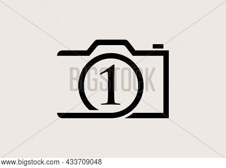 Photography Logo Design On Letter 1. Letter 1 Photography Logo Design. Camera Logo Design Inspiratio