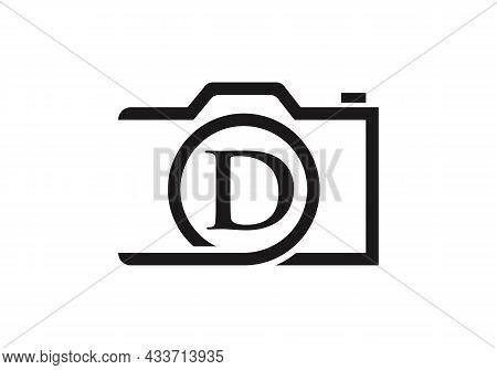 Photography Logo Design On Letter D. Letter D Photography Logo Design. Camera Logo Design Inspiratio