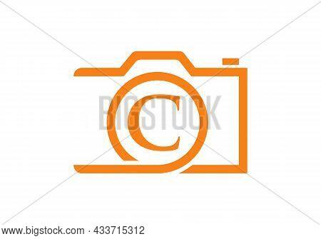 Photography Logo Design On Letter C. Letter C Photography Logo Design. Camera Logo Design Inspiratio
