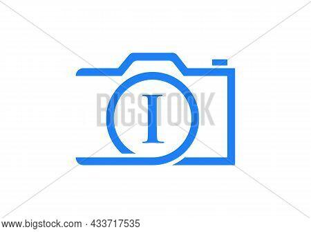 Photography Logo Design On Letter I. Letter I Photography Logo Design. Camera Logo Design Inspiratio