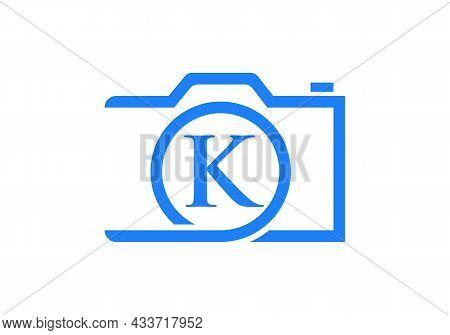 Photography Logo Design On Letter K. Letter K Photography Logo Design. Camera Logo Design Inspiratio