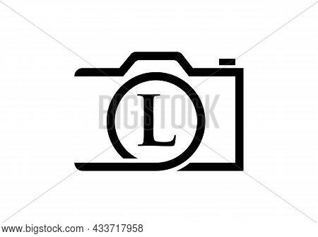 Photography Logo Design On Letter L. Letter L Photography Logo Design. Camera Logo Design Inspiratio