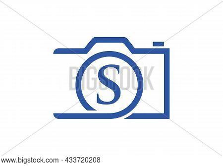 Photography Logo Design On Letter S. Letter S Photography Logo Design. Camera Logo Design Inspiratio