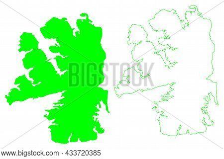 Bathurst Island (canada, North America, Nunavut Territory) Map Vector Illustration, Scribble Sketch