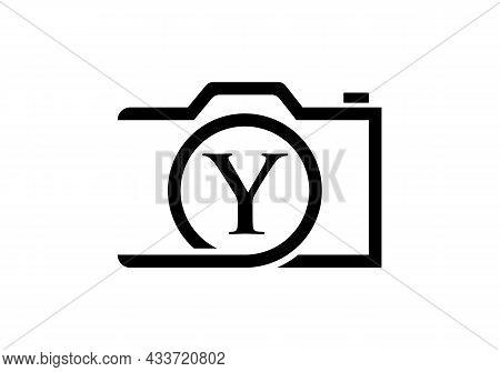 Photography Logo Design On Letter Y. Letter Y Photography Logo Design. Camera Logo Design Inspiratio