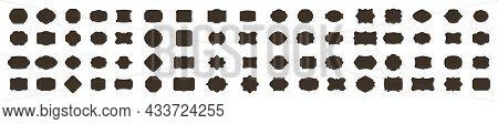 Wedding Frame. Mailbox Monogram, Basic Shapes, Monogram Frame. Empty Frame And Label. Vector Templat