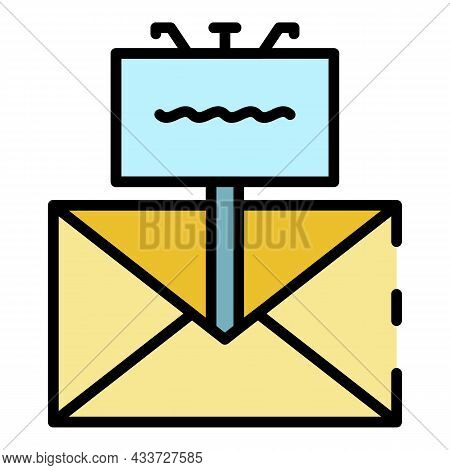 Promotional Newsletter Icon. Outline Promotional Newsletter Vector Icon Color Flat Isolated