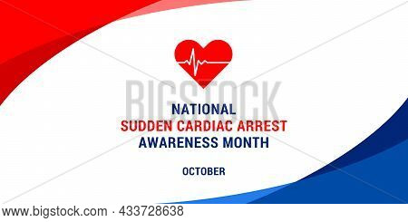 National Sudden Cardiac Arrest Awareness Month. Vector Web Banner, Background, Poster, Card For Soci