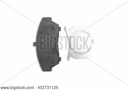 Anti Squeal Shim Plate For Disc Brake Pad Of Car In White Background