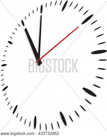 Clock Icon In Flat Style, Timer On White Background. Business Watch. Vector Illustration