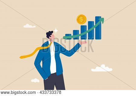 Investment Profit Growth, Financial Advisor Or Wealth Management, Make Money To Get Rich Or Increase