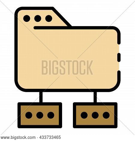 Hosting Directory Icon. Outline Hosting Directory Vector Icon Color Flat Isolated