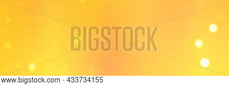 Banner With Smooth Yellow Colors Gradient Background And Bokeh Lights