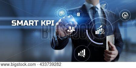 Smart Kpi Key Performance Indicator Business Technology Concept On Screen