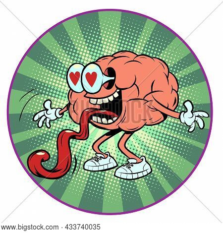 A Lover With Hearts In His Eyes Human Brain Character, Smart Wise