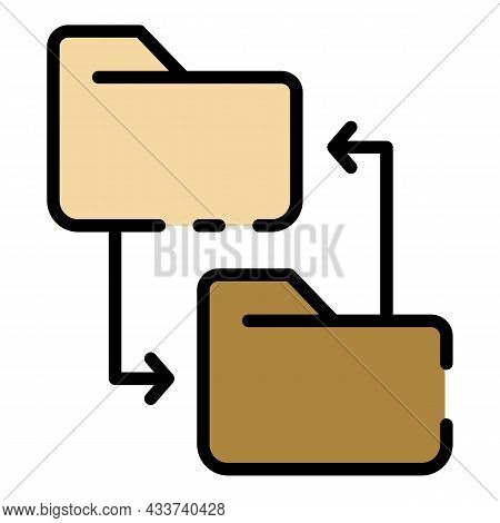 Rewriting The Site Directory Icon. Outline Rewriting The Site Directory Vector Icon Color Flat Isola