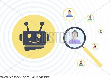 Automated Customer Segmentation Concept. Target Audience Using Ai, Targeting And Positioning Stp Dig
