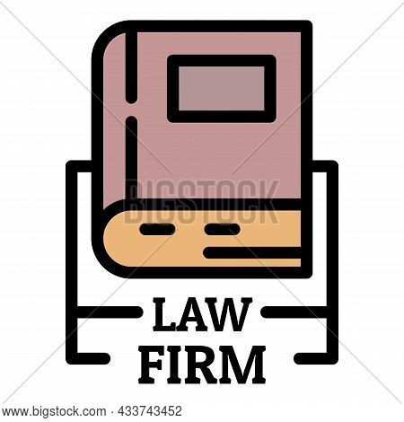 Law Firm Icon. Outline Law Firm Vector Icon Color Flat Isolated