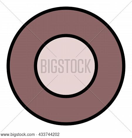 Steel Washer Icon. Outline Steel Washer Vector Icon Color Flat Isolated