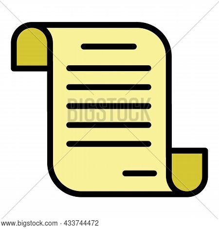 Mortgage Loan Agreement Icon. Outline Mortgage Loan Agreement Vector Icon Color Flat Isolated