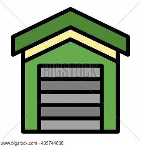 Garage Rental Icon. Outline Garage Rental Vector Icon Color Flat Isolated