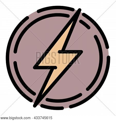 Coal Energy Icon. Outline Coal Energy Vector Icon Color Flat Isolated