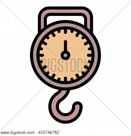 Classic Handle Scales Icon. Outline Classic Handle Scales Vector Icon Color Flat Isolated