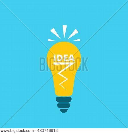 Burning Light Bulb. A Symbol Of Innovation, Creative Thinking, Innovation, Learning, Thinking Leader