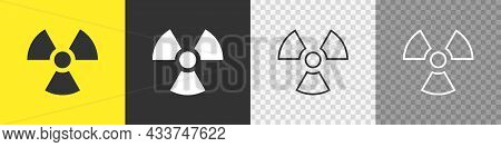 Radioactive Toxic Nuclear Set Icons On White Background. Flat Vector