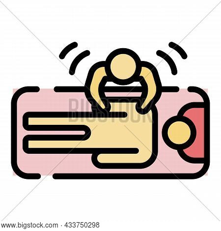 Body Massage Top View Icon. Outline Body Massage Top View Vector Icon Color Flat Isolated