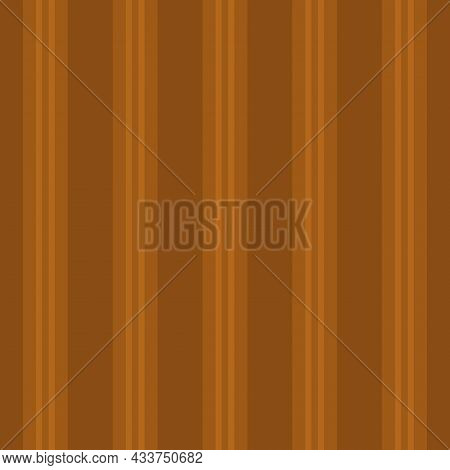 Regent Stripe Seamless Vector Pattern Background. Symmetrical Linear Geometric Backdrop. Ochre Brown