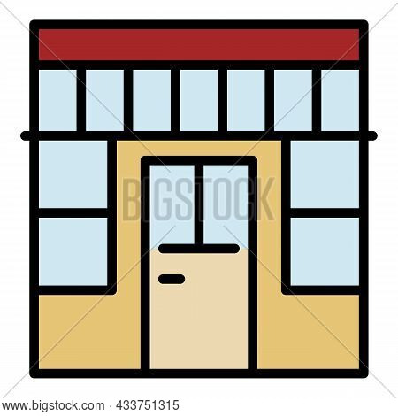 Outside Store Icon. Outline Outside Store Vector Icon Color Flat Isolated