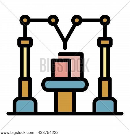 Modern Assembly Line Icon. Outline Modern Assembly Line Vector Icon Color Flat Isolated
