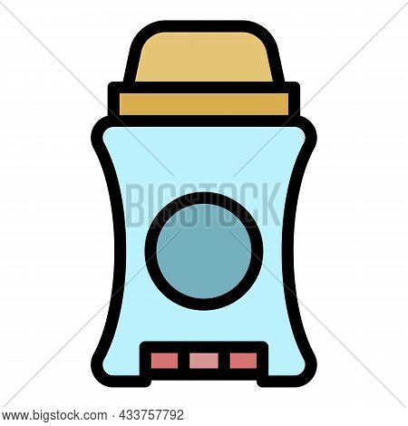 Man Roll Deodorant Icon. Outline Man Roll Deodorant Vector Icon Color Flat Isolated