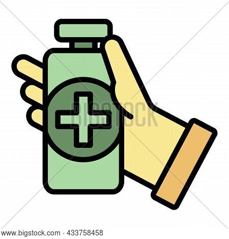 Medical Disinfect Icon. Outline Medical Disinfect Vector Icon Color Flat Isolated