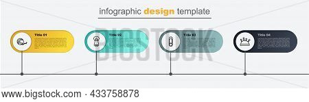 Set Line Needle Bed And Needles, Safety Pin, Zipper And Yarn Ball. Business Infographic Template. Ve