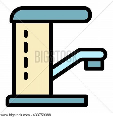 Water Faucet Icon. Outline Water Faucet Vector Icon Color Flat Isolated