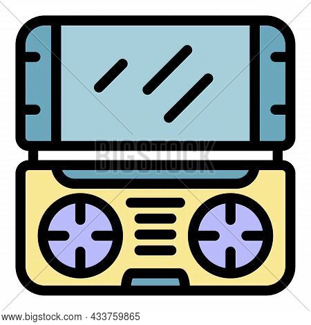 Game Console Icon. Outline Game Console Vector Icon Color Flat Isolated
