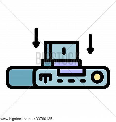 Internet Gamepad Icon. Outline Internet Gamepad Vector Icon Color Flat Isolated