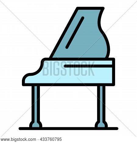 Grand Piano Icon. Outline Grand Piano Vector Icon Color Flat Isolated