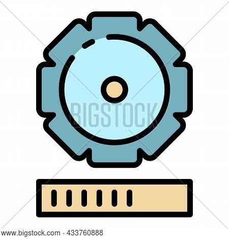Update Gear Process Icon. Outline Update Gear Process Vector Icon Color Flat Isolated