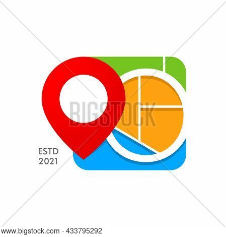 Simple And Modern Illustration Logo Design Initial O City Map