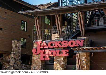 Teton Village, Wy, Usa - Sept 5, 2020: The Jackson Hole Mountain Resort