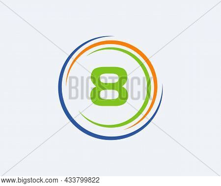 8 Letter Logo Design. Modern, Unique Creative 8 Logo Design. Initial 8 Letter Business Logo Template
