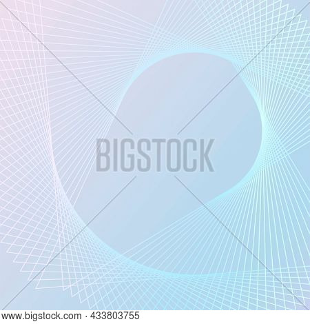 Spiral wireframe pattern technology background in blue tone