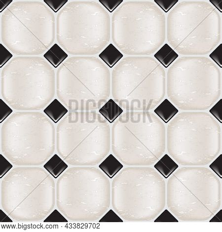 Marble Tiles In Natural Tones, Seamless. Eps10 Vector Format.