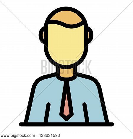 Administrator Icon. Outline Administrator Vector Icon Color Flat Isolated