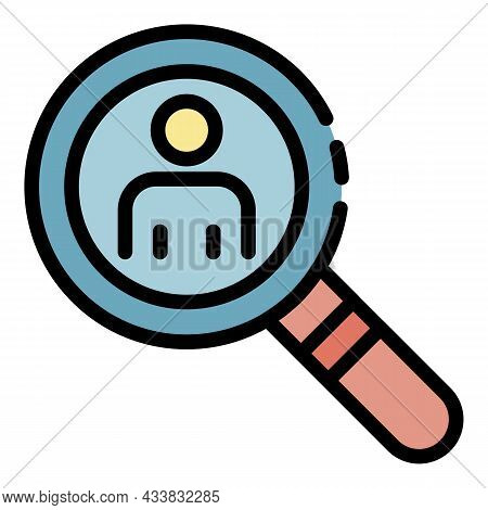 Administrative Search Icon. Outline Administrative Search Vector Icon Color Flat Isolated