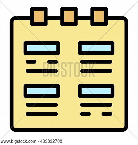 Flipped Calendar Icon. Outline Flipped Calendar Vector Icon Color Flat Isolated