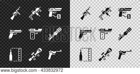 Set Tommy Gun, Mp9i Submachine, Buying Pistol, Bullet, Sniper Optical Sight, Mauser, Pistol Or And I